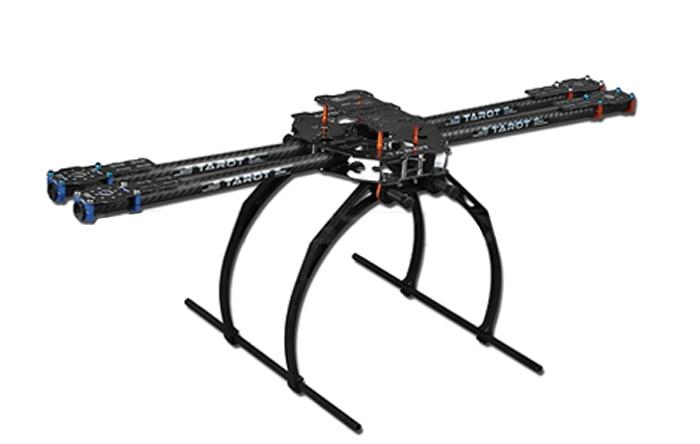 Tarot  650 4-Axle  Folding 3K Carbon Fiber Aluminum Tubes Frame Kit TL65B02 For Quadcopter Aircraft F05544 tarot t15 full carbon tubes tl15t05 for folding rack t15 t18 spare parts free track shipping