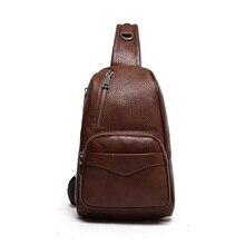 100% натуральная кожа мужчины сумка моды случайные высокого качества для мужчин груди пакет сумка сумка сумки путешествия мешочек