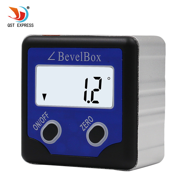 Big Sale Pecision Digital Protractor Inclinometer Level Box Digital Angle Finder Bevel Box With blue