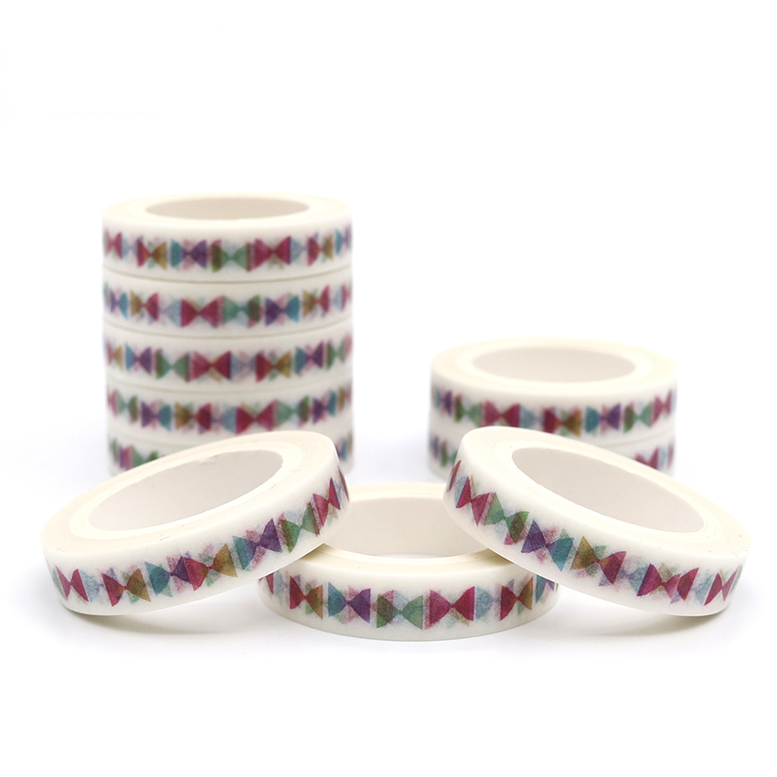 7m*8mm Creativity Colorful Bow Tie Washi Tape Diy Diary Decoration Masking Tape Kawaii Stationery Scrapbooking Tape Sticker