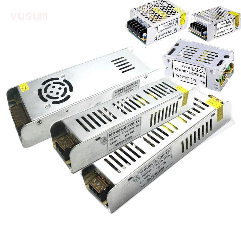 Vusum LED Driver Power Supply AC220 To DC12V / DC24V 12W 24W 60W 120W 200W 250W 360W LED Adapter Lighting Transformers