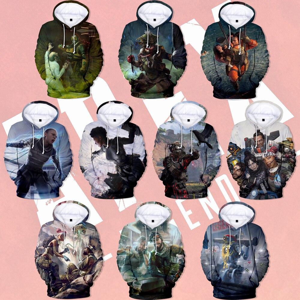 Game Apex Legends 3D Hoodies Men Women Sweatshirts Long Sleeve Harajuku Hoodie Print Apex Legends 3D Hoodies Cosplay Costume