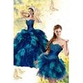 Vestidos Quinceanera 2 em 1 Vestido de Debutante Curto com Longa Saia Destacável de Cristal Beading Organza Ruffle Saia vestido De Baile Bola