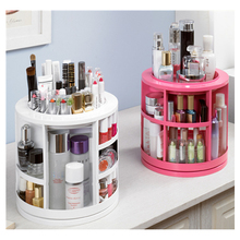 360 Degree Rotating Storage Box Case Cosmetic Jewelry Organizer Folding Makeup Storage Skincare Stand Holder