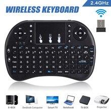 Мини 2,4 ГГц Беспроводная клавиатура Air mouse тачпад для ПК офиса Smart tv DJA99