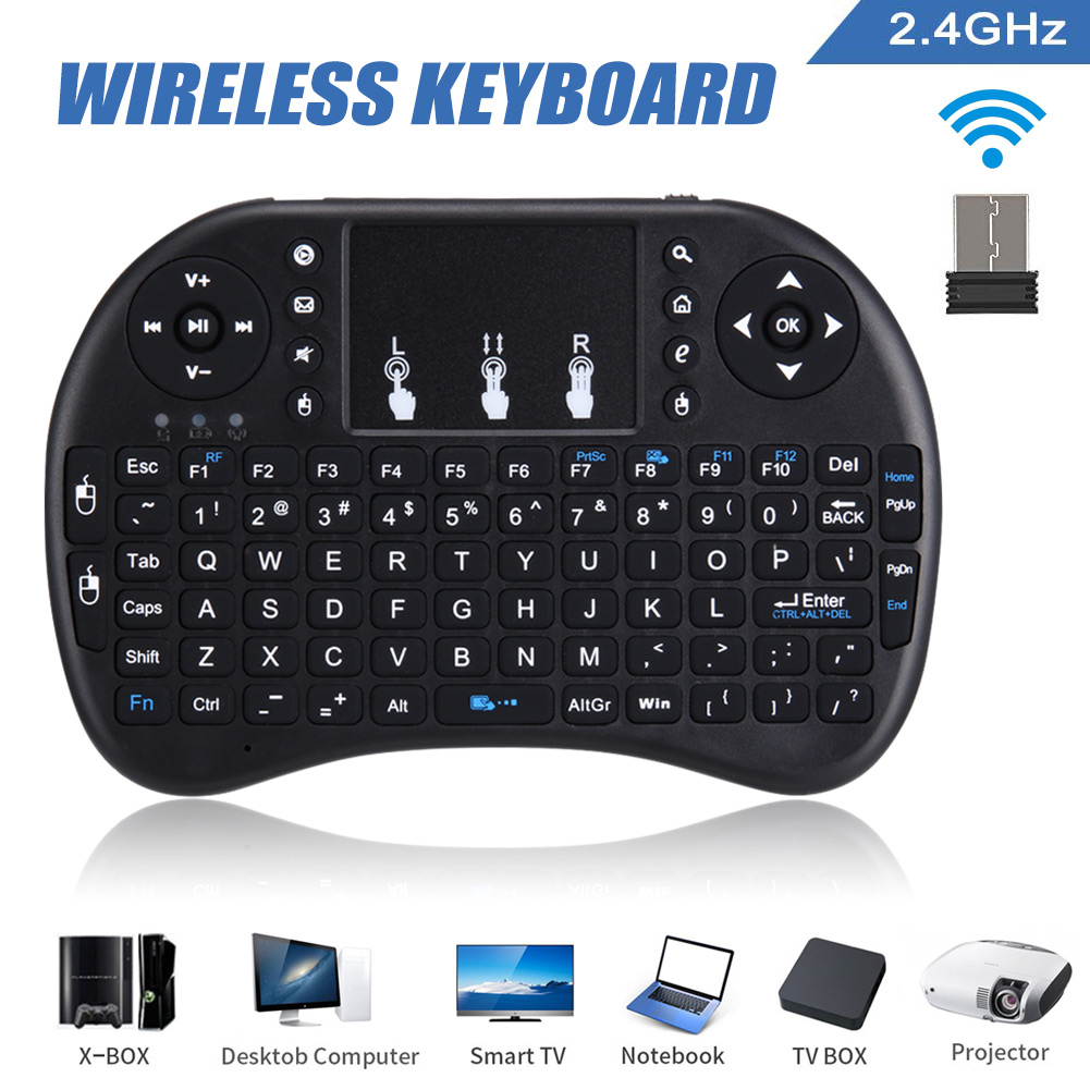 6d17b478048 2.4 GHz Wireless Keyboard for PC Office Smart TV DJA99 Mini Air Mouse  Touchpad