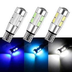 2 шт. авто светодиодный 194 W5W Canbus 10 SMD 5630 Светодиодный лампочки нет ошибок светодиодные фары для парковки СВЕТОДИОДНЫЙ Автомобильный боковой ...