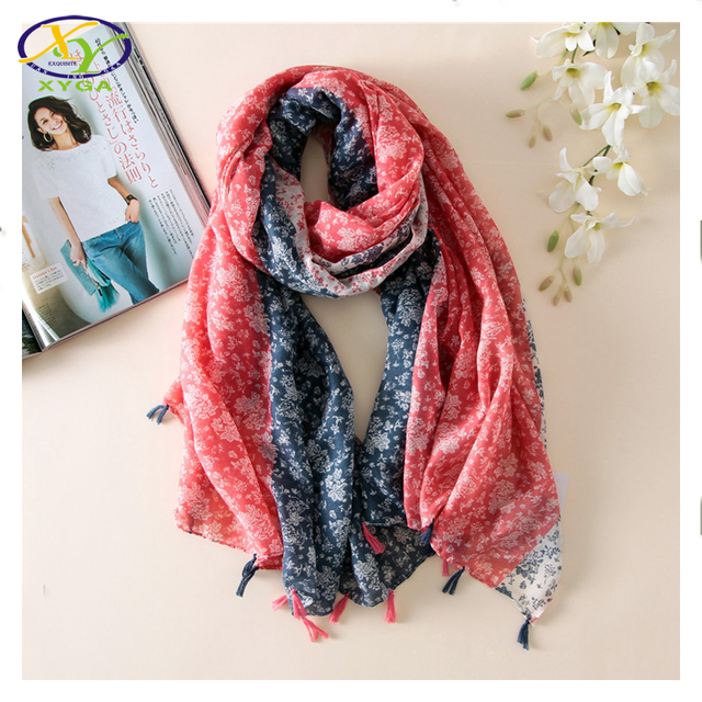 1PC  2016 New Design Korean Style Fashion Acrylic Women Tassels Thin Summer Scarf Woman New Polyester Cotton Long Pashminas