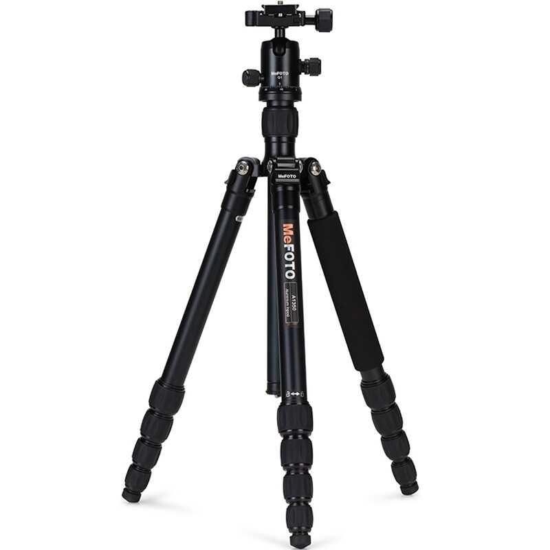 MeFOTO A1350Q1 알루미늄 삼각대 카메라 일각 삼각대 Q1 Ballhead 5 Section Max Loading 8kg 12 색 DHL 무료 배송