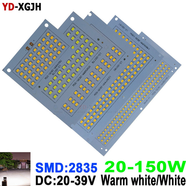 100% Full Power LED Floodlight PCB 20W 30W 50W 100W 150W SMD 2835 for LED Lamp led PCB board Aluminum plate LED floodlight