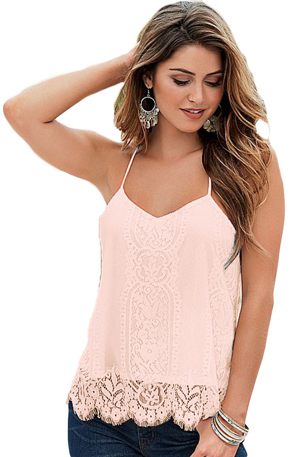 Pink-Scalloped-Lace-Tank-Top-LC25795-10-1