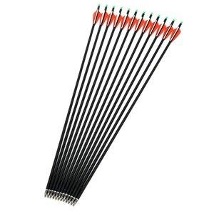 Image 3 - Flèche en carbone 28/30/32 pouces de longueur colonne vertébrale 500 avec pointe de flèche remplaçable pour la chasse à larc composé/classique