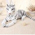 Моделирование животных большой 75 см белый тигр плюшевые игрушки подарок на день рождения b4978
