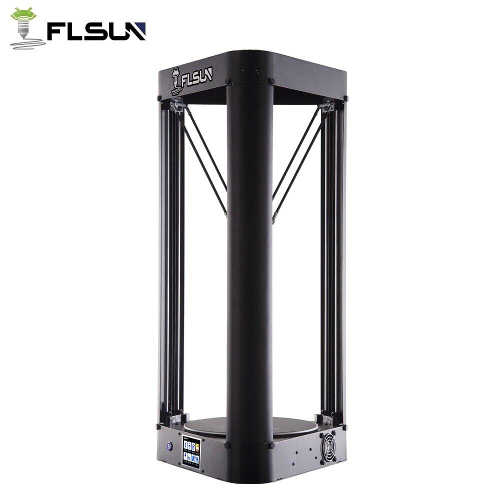 2019 NOUVEAU 3D Imprimante Kossel Flsun QQ-S Auto Nivellement Treillis HeatBed Pré-assemblée Delta Titan écran tactile Wifi 32 bits motherboad - 3
