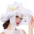 Señoras Sombrero Del Organza de Boda de La Iglesia Derby Fedora Beach Partido de Tarde Del Coctel Vestido de Sun Del Verano Del Casquillo de La Vendimia de Ala Ancha Sombrero Nuevo