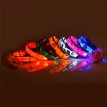 Anti-Lost Camouflage Led Light Dog Collar For Small Large Medium