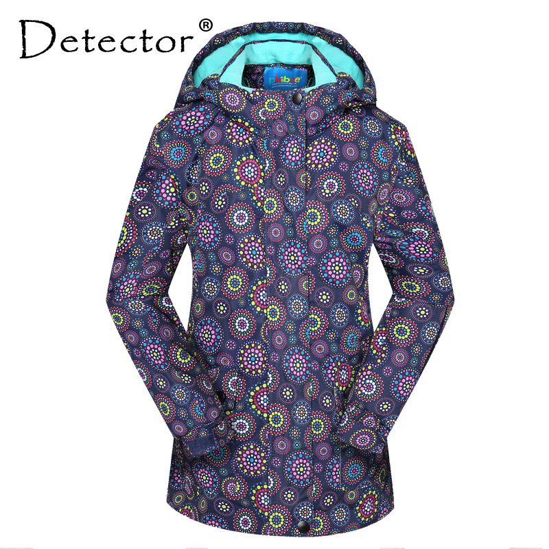 Detector Outdoor Girl Ski Jacket Kids Skiing Jackets Waterproof Snowboard Jackets Girl Thick Clothes Keep Warm Coat Windproof