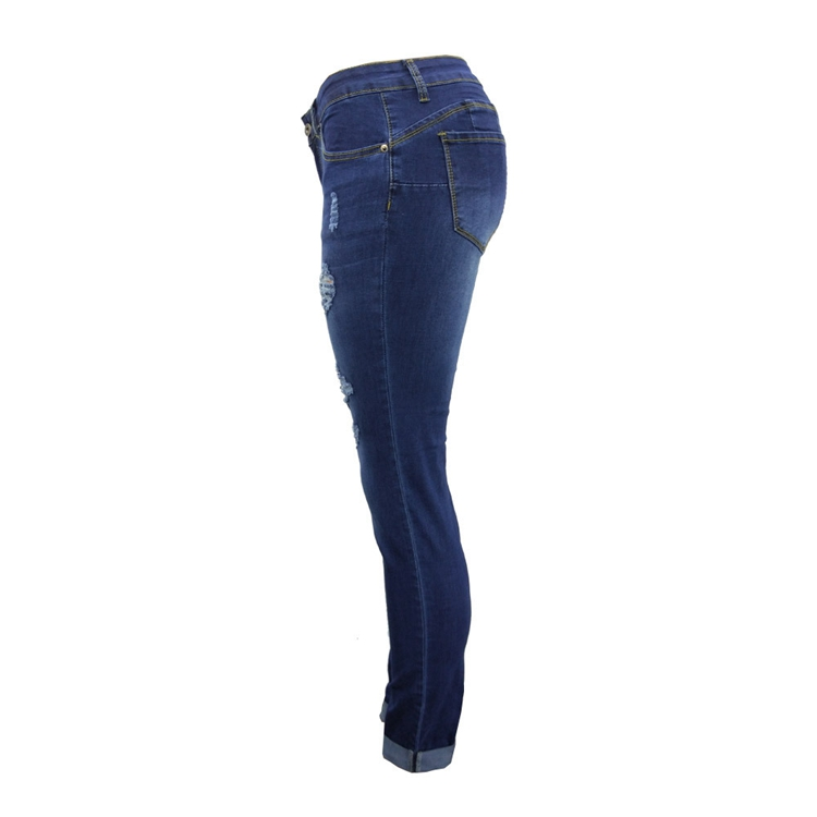 Women Jeans Pants Skinny Pearl Beaded Front Jeans Summer Spring Mid Waist Zipper Long Denim Casual Pants (16)