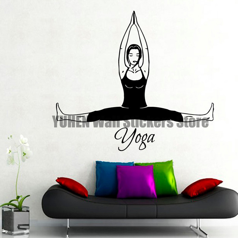 Aliexpress.com : Buy Yoga Wall Decals Woman Stretching Pilates Home on ergonomics home design, feng shui home design, yoga home design, modern home design,