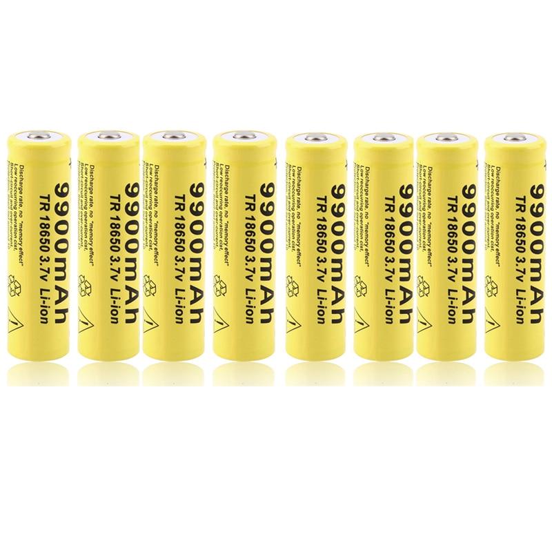Cncool 20 pièces 3.7 V 18650 batterie 9900 mah batterie au lithium rechargeable batterie au lithium pour lampe de poche torche accumulateur cellules