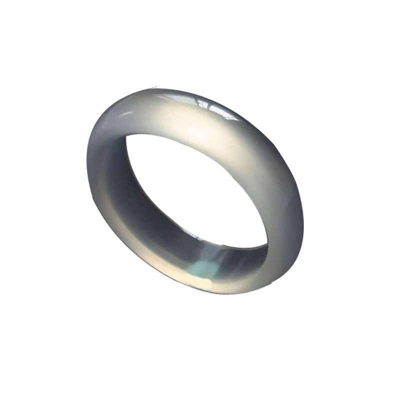 สีขาวธรรมชาติน้ำแข็ง agate chalcedony แหวนหยกแหวนชายหญิงรุ่น ar02 #