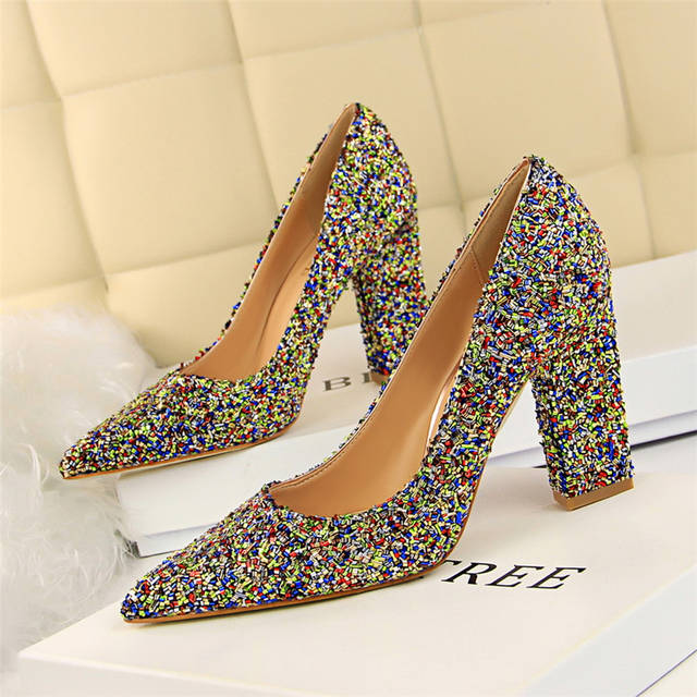 1a78820a97 Bling pumps women shoes high heel wedding shoes bride extreme high heels  pumps designer shoes women luxury 2019 bigtree shoes
