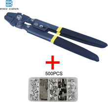 EASY CATCH  stainless Steel fishing pliers Kit Terminal Crimping  tube crimper tool for fishing tackle цена