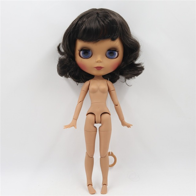 TBL Neo Blythe Doll Short Deep Brown Black Hair Jointed Body