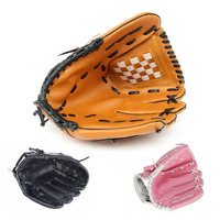 PVC Leather Brown Black Pink Glove 10 5 11 5 12 5 Softball Outdoor Team Sports