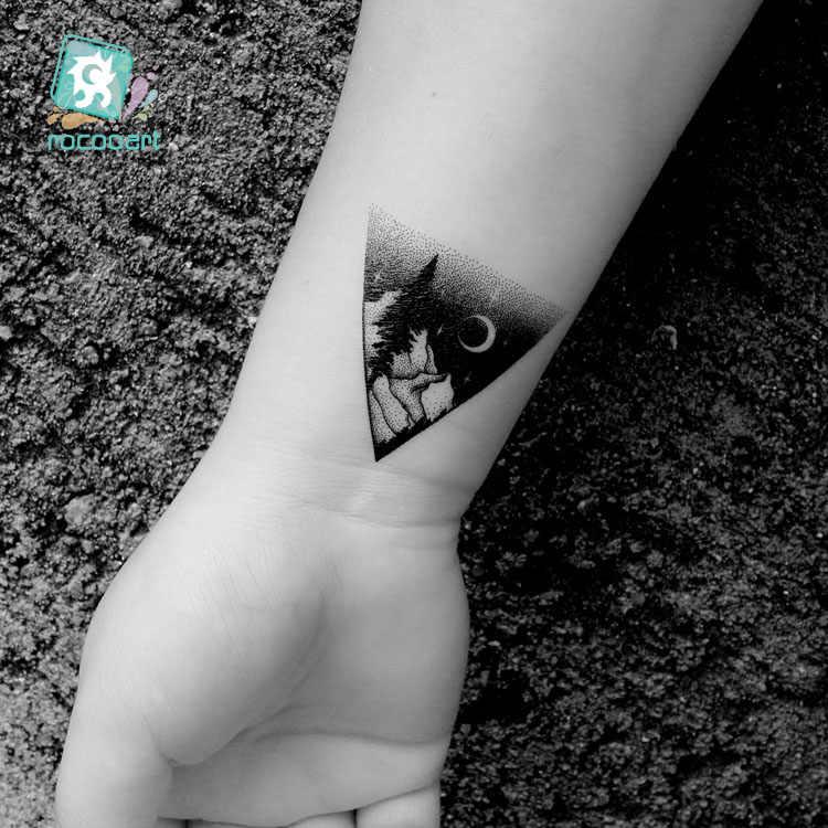 Rocooart lua montanha tatuagem temporária adesivos ecologia falso tatuagem planeta tatuajes oceano taty coqueiro à prova dwaterproof água tatouage