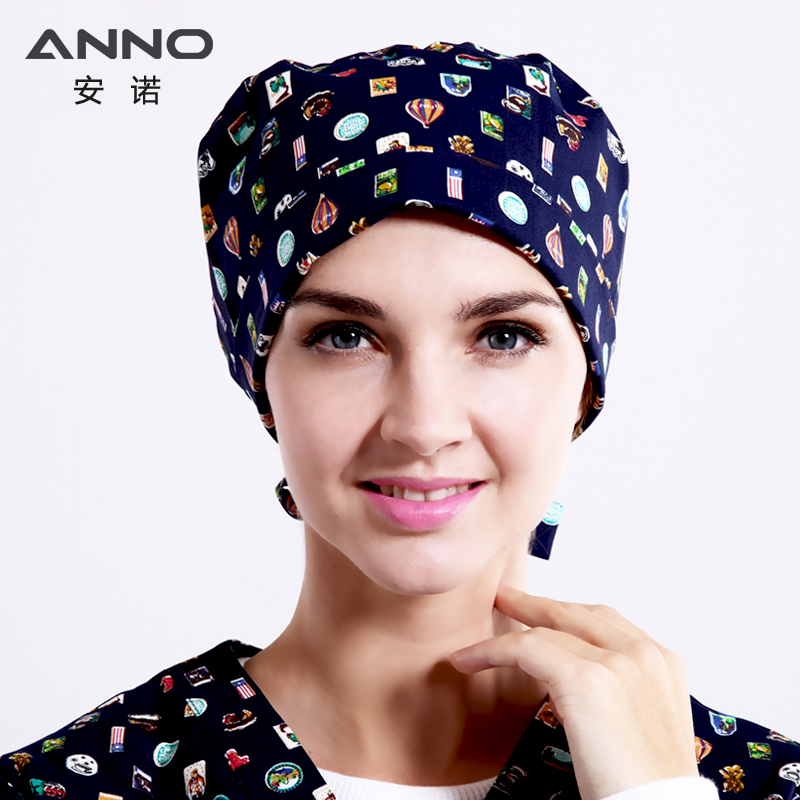 ANNO Brand Short Hair Medical Hat Surgical Surgeons Surgery Hat Cap Hospital Doctor Nurse Cap Chapeau Scrub Hats medical mask