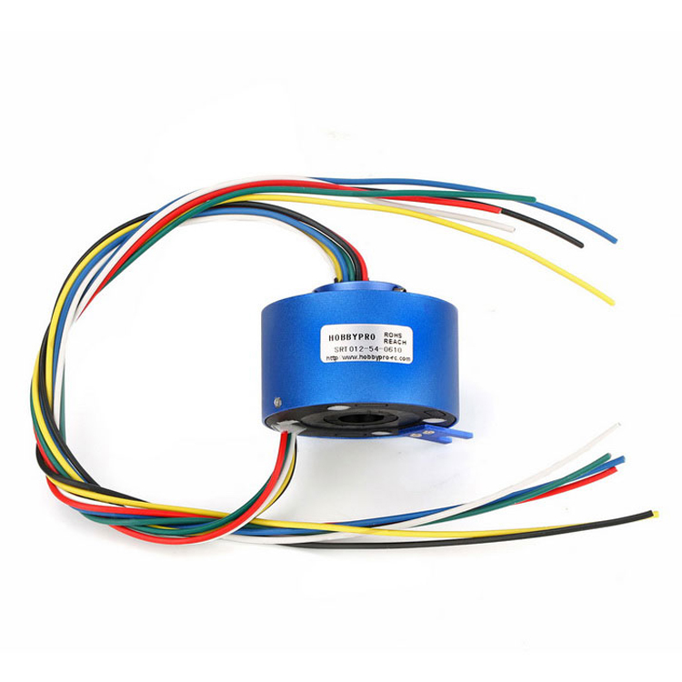 Mini Through Hole Slip Ring 500Rpm 6-way 12.7mm 10A/Circuit Hollow Shaft a way through the woods