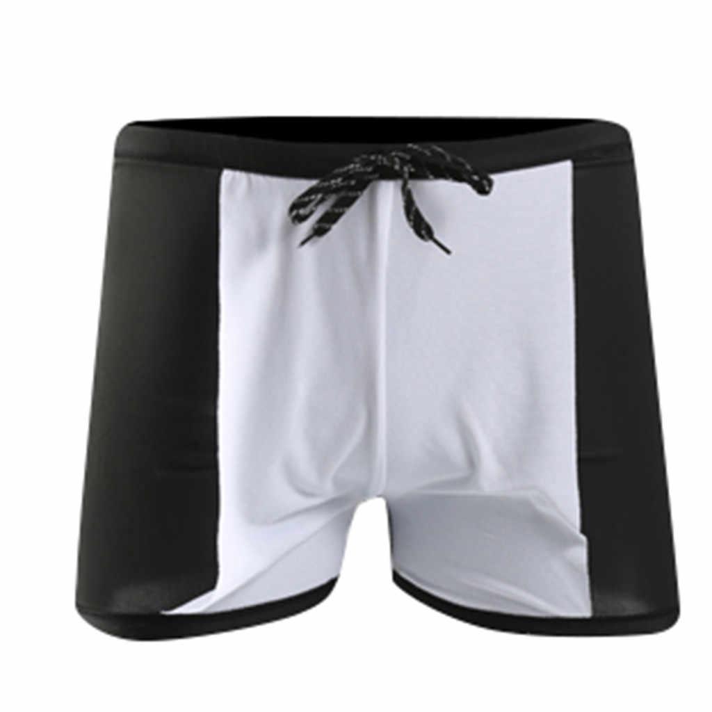 2019 Hot البيع الأسد نمط طارد المياه الرجال متوسطة طويلة سباق السباحة السباحة trunks الرياضة السراويل الرجال ملابس السباحة ارتداء ملخصات