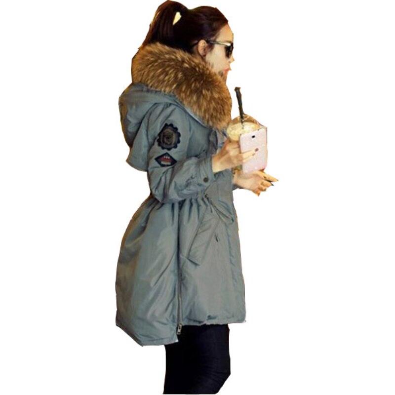 De Naturel D'hiver Parka Manteau Blanc Green Laveur Femme Army Col Hiver Canard Raton 2018 Vestes Femmes Parkas Cc054 Fourrure Blue cow black Veste qIPwPg