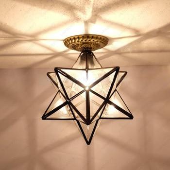 3W/5W/7W LED Ceiling Light 8 inch/12 inch Clear Glass Lampshade E27 Lamp Bulb Corridor Hotel