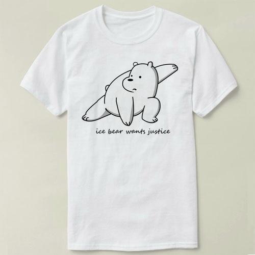 147ce2e4fb We Bare Bears Ice Bear Wants Justice Tee short sleeve women men DIY T-Shirt  fashion summer