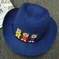 2016 весной и летом новый три винни Корейской версии ковбой джаз шляпа большая наполнянный до краев шляпа солнца ребенка шляпа