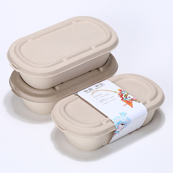 10% LK987 Eco-Friendly Degradable straw Disposable Dinner Box with Lids 1000ML Food Containers Salad Boxes 50pcs/lot FAD SGS