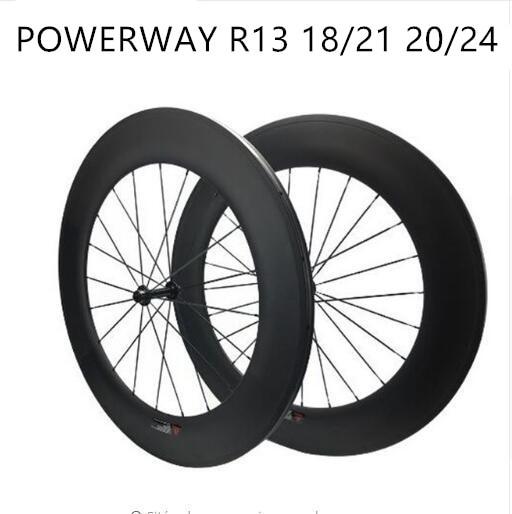 Free Shipping Carbon Wheels 88mm Wheelset Powerway Width 25mm Carbon 700C Road Bike Wheels Clincher Tubular Bicycle Wheelset