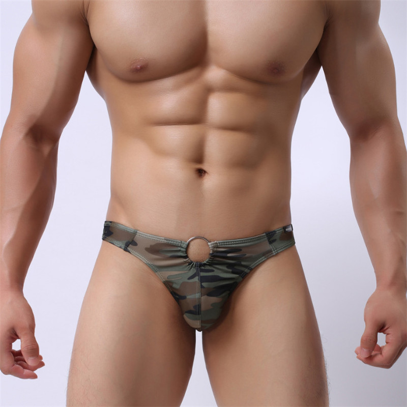 Men's Camouflage Underwear Men's Thong Underwear T Pants Fashion Sexy Comfortable Underwear Men's Underwear Shorts Cueca