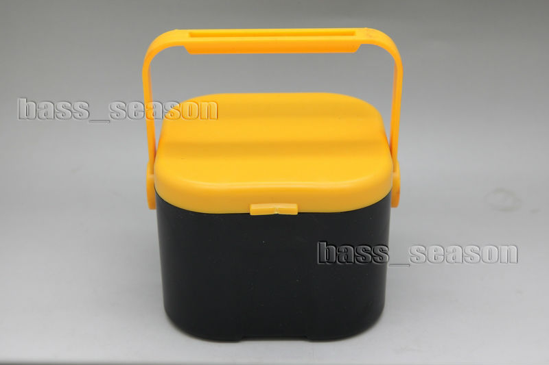 Round fishing lure box PP earthworm worm lure storage case with breather holesX