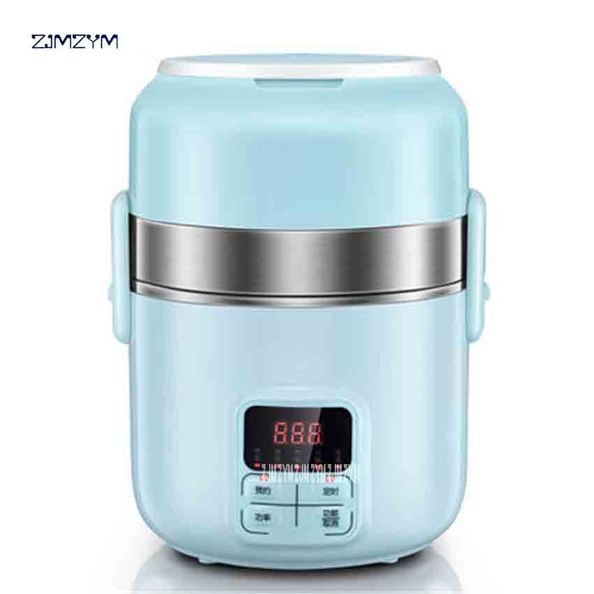 DFH-B20J1 Electric Lunchbox Three Layers Can Be Plugged In Heating Insulation Reservation Timing 2L stainless steel Multi Cooker 220v 600w 1 2l portable multi cooker mini electric hot pot stainless steel inner electric cooker with steam lattice for students