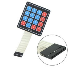 Free Shipping 1PCS 4 * 4 Matrix Keyboard 16 Key Membrane Switch Array Keypad For Arduino