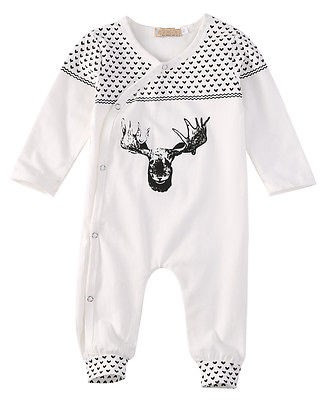 Baby Girls Boys Clothing Baby Clothes Pajamas Cute Deer 100% Cotton Long Sleeve Infant de bebe costumes baby Rompers newborn baby clothing spring long sleeve cotton baby rompers cartoon girls clothes roupas de bebe infantil boys costumes