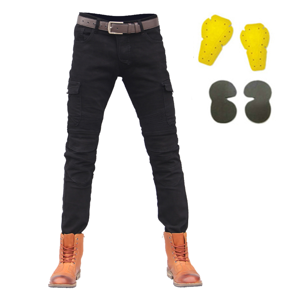 Men Motorcycle Pants Protector Moto Pants Summer Motorcycle Jeans Motocross Riding Pants Racing Motorbike Dirt Bike