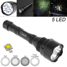 Waterproof 10W Q5 LED Flashlight 1500 Lumens 300M Range 5 Modes Light Support 18650 Rechargeable Battery waterproof 10w q5 led flashlight 1500 lumens 300m range 5 modes light support 18650 rechargeable battery