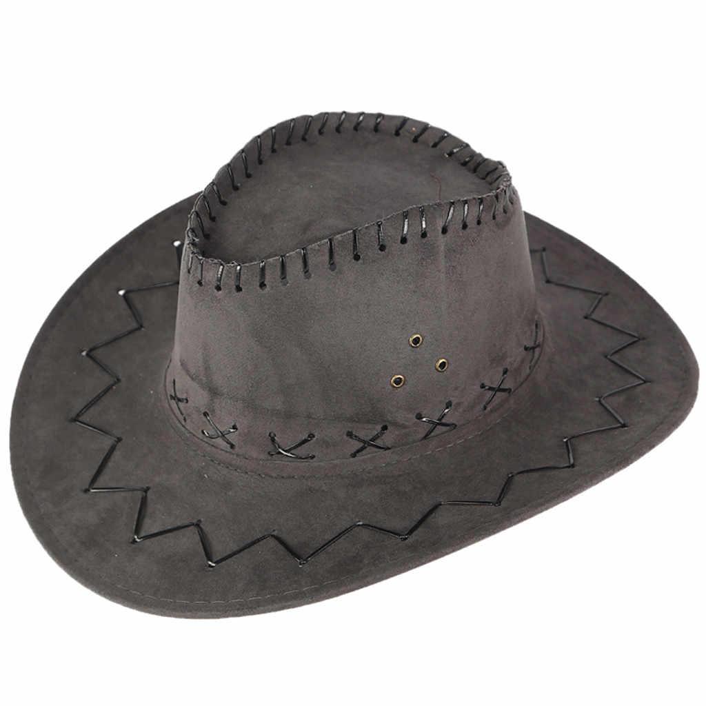 2019 新着ユニセックスレディースメンズ帽子野生西ファンシーカウガールカウボーイ帽子カジュアルソリッドファッション西洋帽子キャップ # p10
