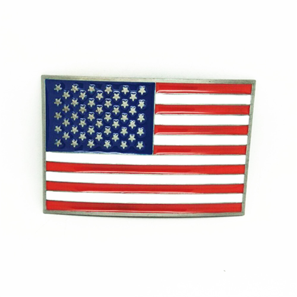 Fashion Belt Accessories American Flag Metal Belt Buckle For 4cm