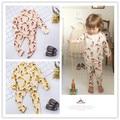 Ins 2017 весна baby boy одежда ДЕТИ кролик швеции дети брюки 2 шт. комплектов одежды kikikids моды дети рождество пижамы наборы