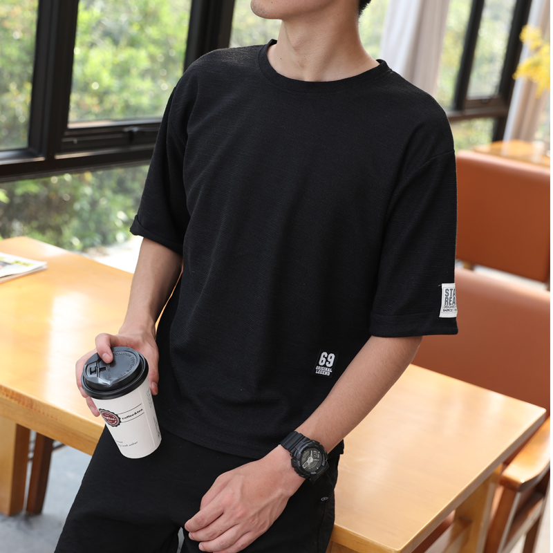 2019 New T Shirts Men's Cotton Loose Short Sleeve Tee shirts Fashion Style T shirt Casual Man's T shirts Tops YE35